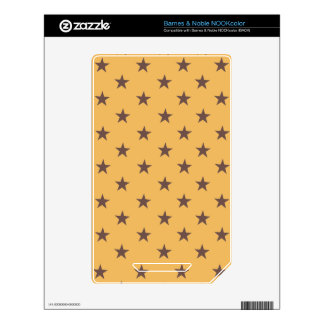 Beeswax And Brown Chocolate Stars NOOK Color Skin