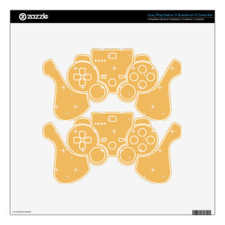 Beeswax  And Shining Stars Elegant Pattern Skin For PS3 Controller