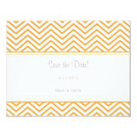 Beeswax Chevron Print Save the Date Annoucement 4.25x5.5 Paper Invitation Card