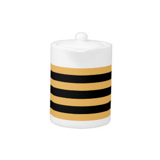 Beeswax Color And Horizontal Black Stripes Pattern