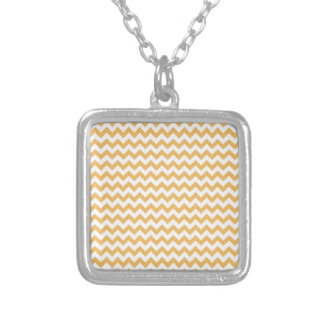 Beeswax-Color-And-White Chevron Necklace
