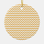 Beeswax-Color-And-White Chevron Christmas Tree Ornament