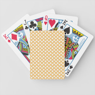Beeswax Color And White Seamless Mesh Pattern Bicycle Playing Cards