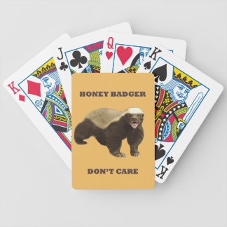 Beeswax Color Honey Badger Dont Care Card Deck