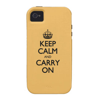 Beeswax Color Keep Calm And Carry On iPhone 4/4S Case