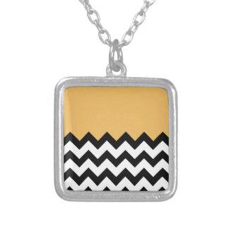 Beeswax-On-Black-&-White-Zigzag-Pattern Custom Jewelry