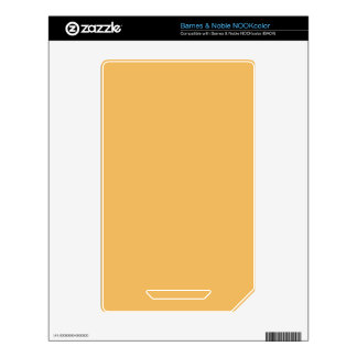 Beeswax Orange Yellow  Elegant Fashion Color NOOK Color Decal
