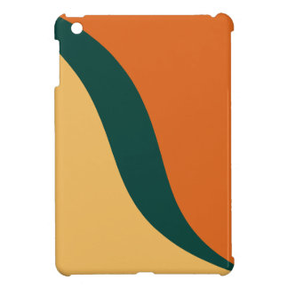 Beeswax, Teal, Tangerine Tango Graphic Art Pattern iPad Mini Covers