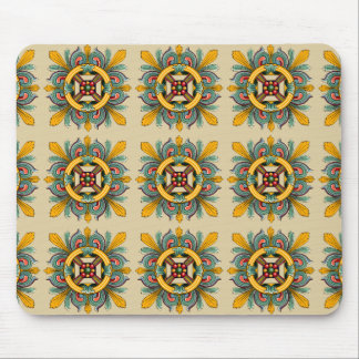 Beeswax Victorian Tile Design Mouse Pad