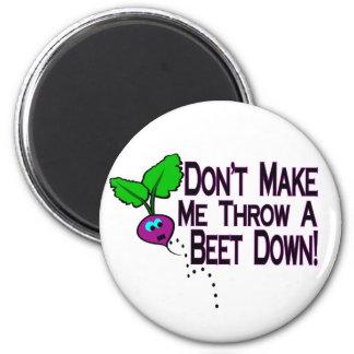 Beet Down 2 Inch Round Magnet