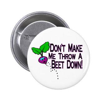 Beet Down 2 Inch Round Button