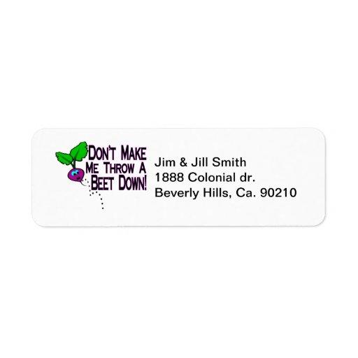 Beet Down Label