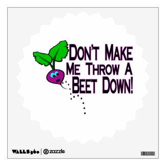 Beet Down Room Sticker