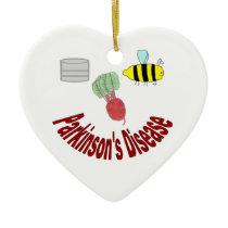 Beet PD Heart Ornament