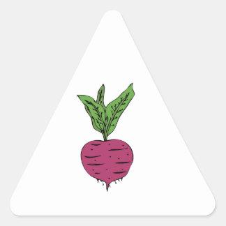 Beet Triangle Sticker
