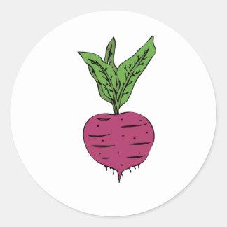 Beet Classic Round Sticker