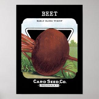 Beet Vintage Seed Packet Poster