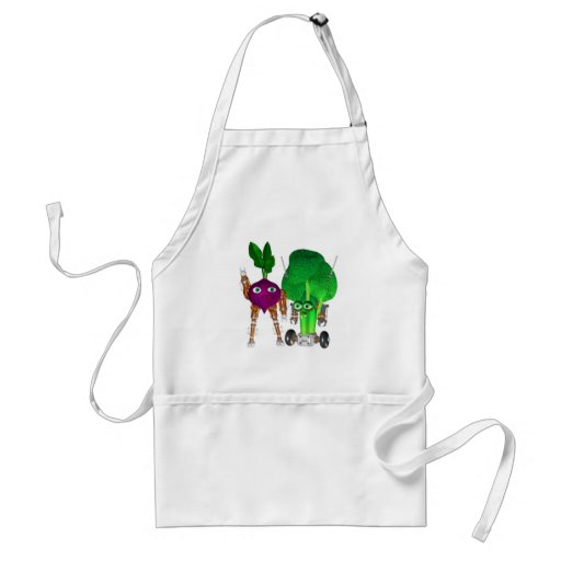 BeetBot and BroccoliBot Aprons