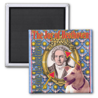 BEETHOVEN 2 INCH SQUARE MAGNET