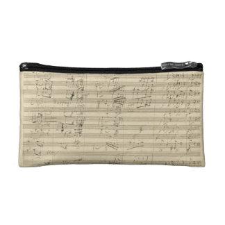 Beethoven 9th Symphony, Music Manuscript Makeup Bags