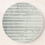 Beethoven 9th Symphony, Music Manuscript Beverage Coasters