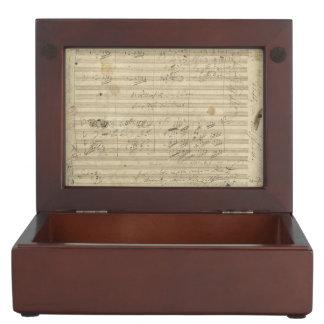 Beethoven 9th Symphony, Music Manuscript Memory Box