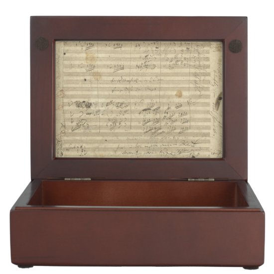 Beethoven 9th Symphony, Music Manuscript Memory Box