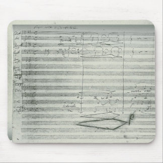 Beethoven 9th Symphony, Music Manuscript Mouse Pad