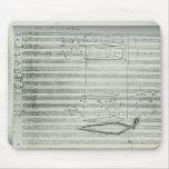 Beethoven 9th Symphony, Music Manuscript Mousepad