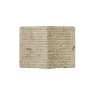 Beethoven 9th Symphony Music Manuscript Page Passport Holder