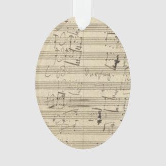 Beethoven 9th Symphony Music Manuscript Score Ornament