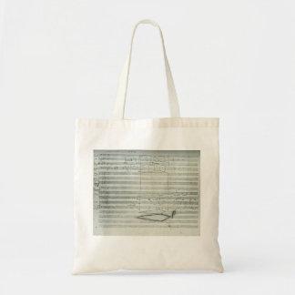 Beethoven 9th Symphony Music Manuscript Tote Bag