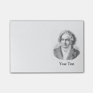 Beethoven Black and White Post-it Notes