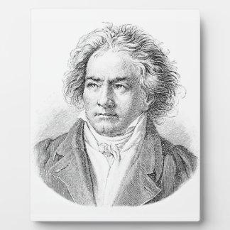 Beethoven blanco y negro placas de madera