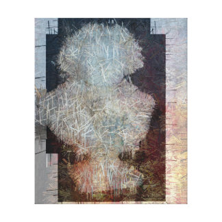 Beethoven Bust Abstract Graphic Canvas Print