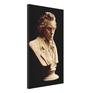 Beethoven bust statue canvas print