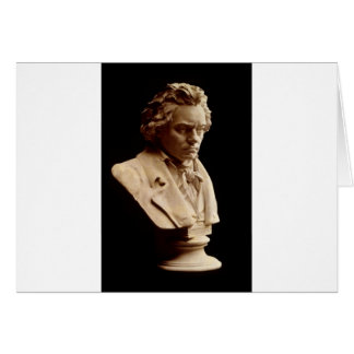 Beethoven bust statue greeting cards