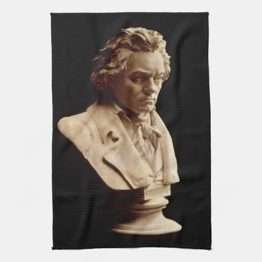 Beethoven bust statue hand towels