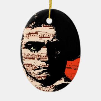 Beethoven Ceramic Ornament