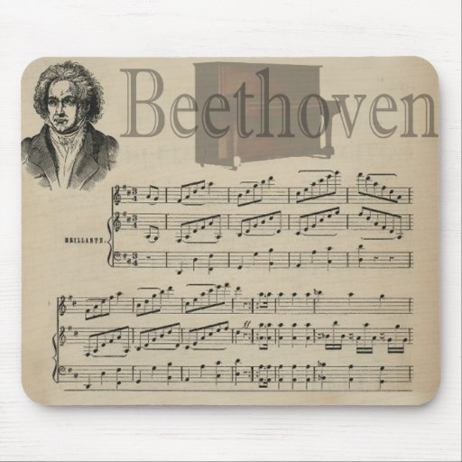 Beethoven Classic Music Gift for Music lovers Mousepads