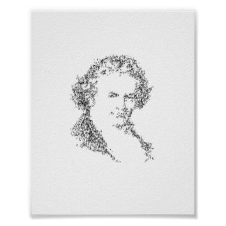 Beethoven - composed of tiny music notes poster