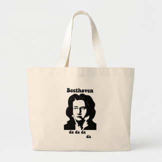 Beethoven divertido bolsa tela grande