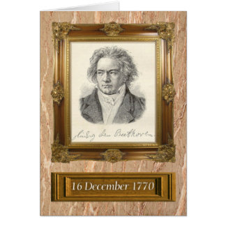 Beethoven Drawing Greeting Card