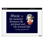 Beethoven en música calcomanías para 38,1cm portátiles