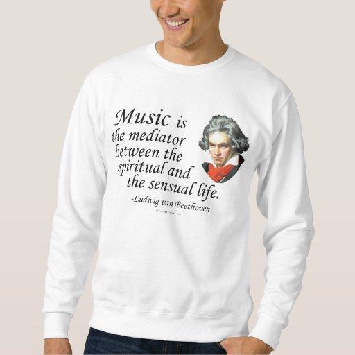 Beethoven en música suéter