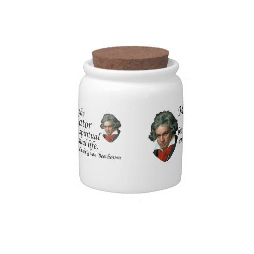 Beethoven en música tarro de cerámica para dulces