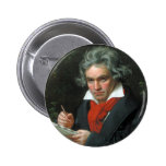 Beethoven Flair Pinback Buttons