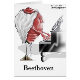 Beethoven Funny Gifts Tees Mugs Cards Etc Greeting Card