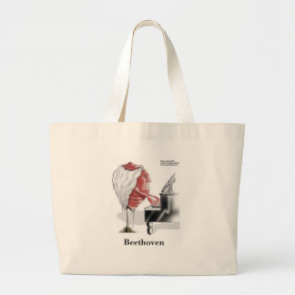 Beethoven Funny Gifts Tees Mugs Cards Etc Large Tote Bag