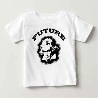 Beethoven futuro playera de bebé